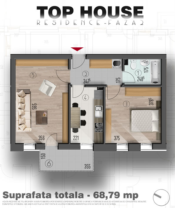2 camere de vanzare Top House Residence